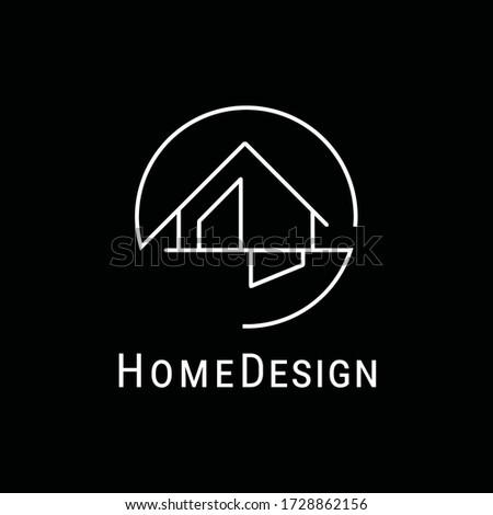modern interior home design logo