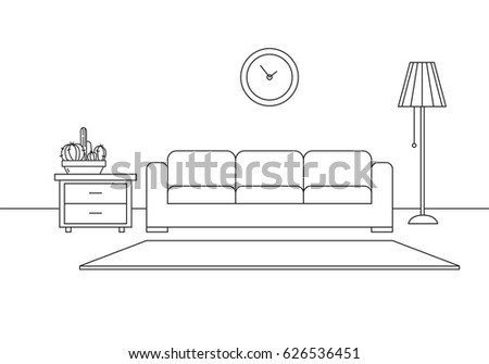modern interior sofa  floor
