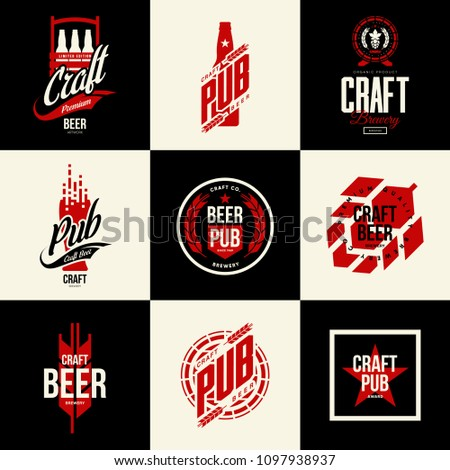 modern isolated craft beer