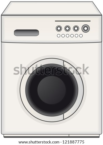 modern isolated home washing machine