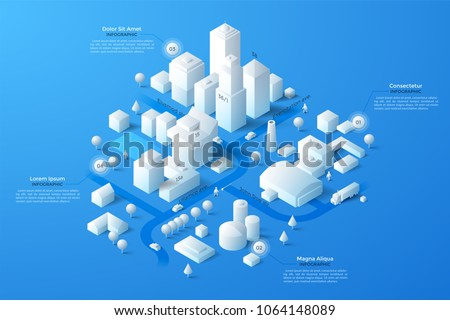 modern isometric or 3d location