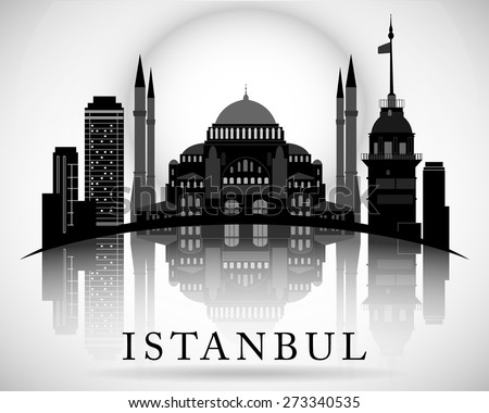 modern istanbul city skyline