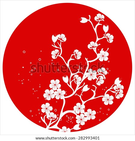 modern japanese cherry blossom