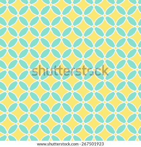 Modern Japanese Traditional Pattern Background Hoshishippou Lemon Color