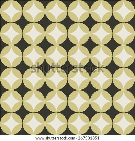 Modern Japanese Traditional Pattern Background Shippoutsunagi Chocolate Color