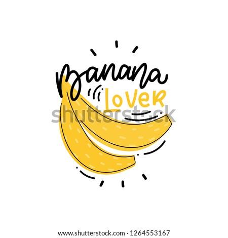 modern kids illustration banana