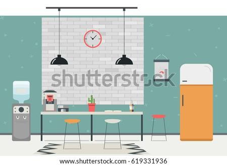 modern kitchen interior empty