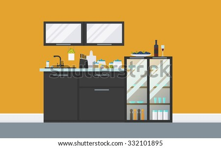 Flat Kitchen Vector Icons Download Free Vector Art Stock Graphics