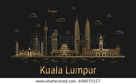 modern kuala lumpur city line