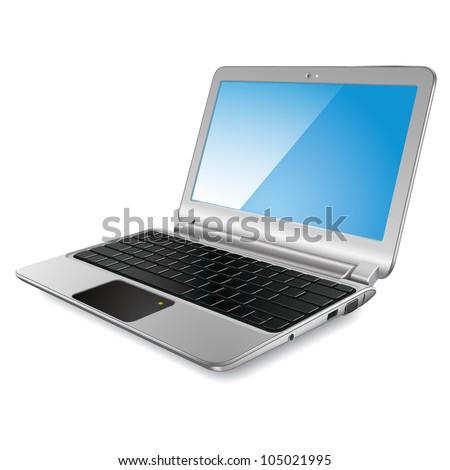 Modern laptop. Vector eps10