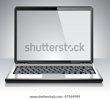Modern laptop. Vector Illustration - stock vector