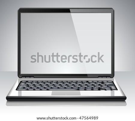 Modern laptop. Vector Illustration