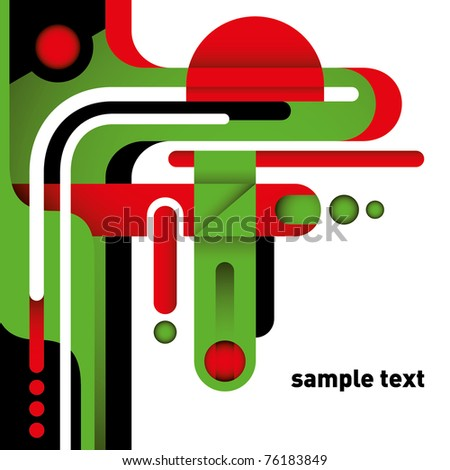 Modern layout with stylized shapes. Vector illustration.