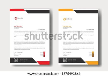 modern letterhead design template professional mordent letterhead template design creative clean business letterhead concept design