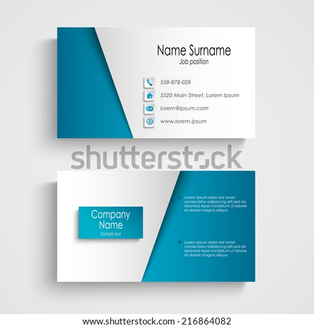 Free blue business card template vector download free vector art premium vectors reheart Image collections