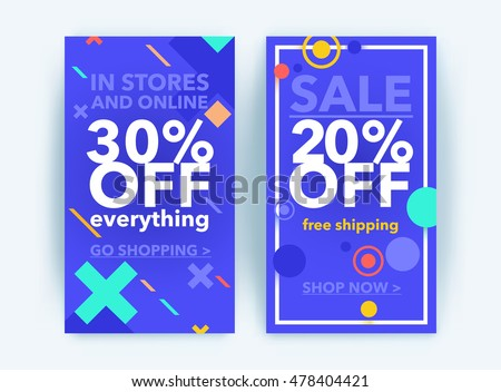 Modern line art website sale banner template. Discount sale banner. Vector illustration fashion newsletter designs, poster design for print or web, media, promotional material - stock vector