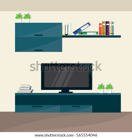 modern living room interior in
