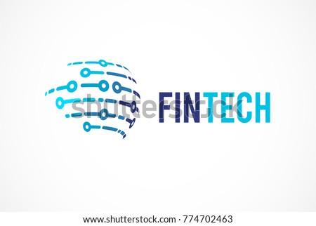 Modern logo concept for global  fintech and digital finance industry
