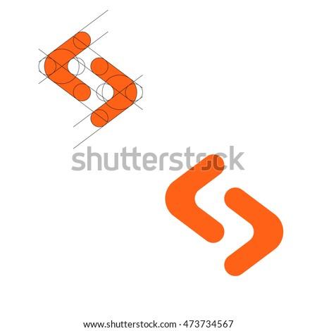 modern logo concept letter s