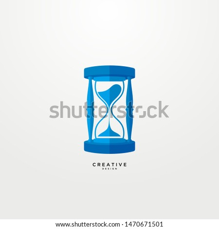 modern logo modern hourglass with a modern and elegant color concept.