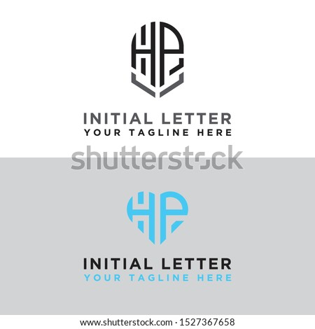 Modern Logo Set of HP logo designs, which inspire all companies. -Vectors