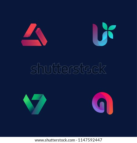 Modern logotype collection