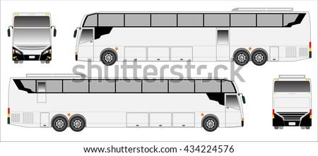 Modern Long bus vector, sporty bus