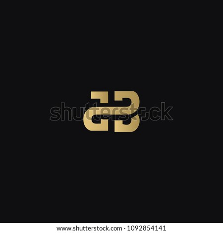 Modern luxurious creative geometric pattern JB BJ J B business brands black and golden color initial based letter icon logo.