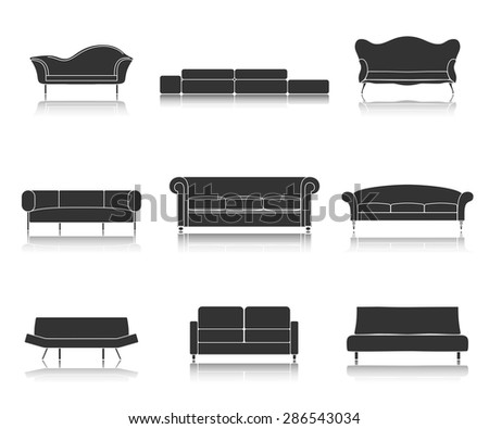 modern luxury black sofas and