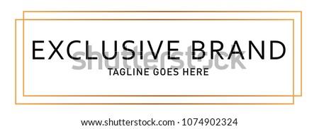 Modern Luxury Rectangle Gold Logo Design
