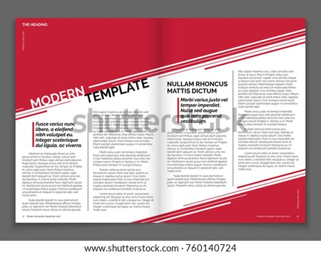 modern magazine or business brochure vector template magazine page