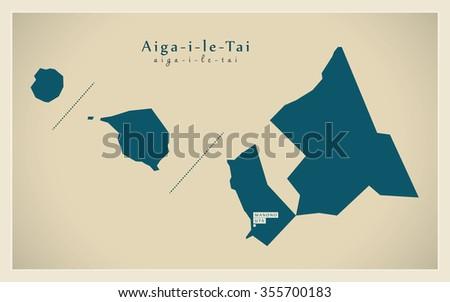 Modern Map - Aiga-i-le-Tai WS