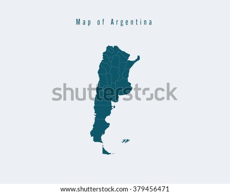 Free vector map of argentina download free vector art stock modern map argentina with federal states gumiabroncs Image collections