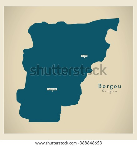 modern map   borgou bj