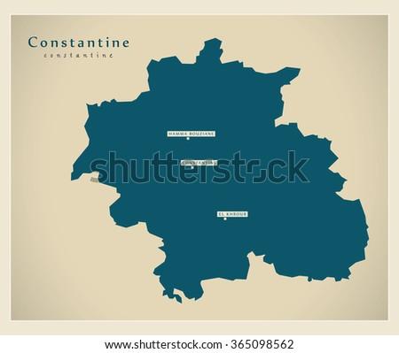modern map   constantine dz