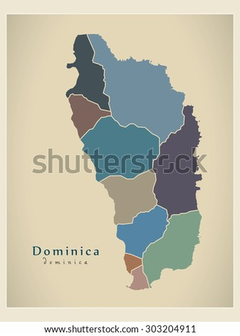 modern map   dominica parishes