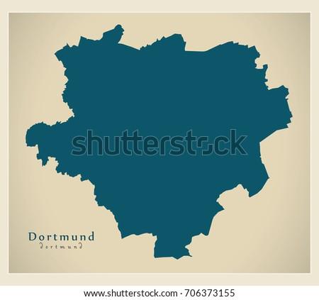 stock vector modern map dortmund city of germany