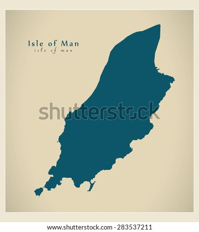modern map   isle of man im