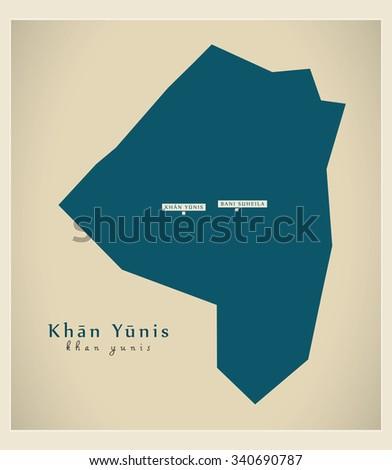 modern map   khan yunis