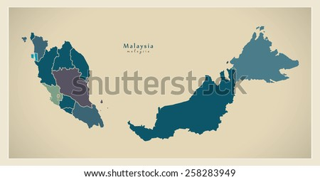Malaysia vector map descargue grficos y vectores gratis modern map malaysia with federal states my gumiabroncs Choice Image