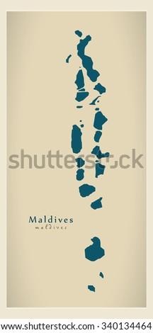 modern map   maldives mv