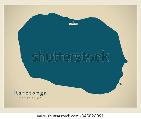 modern map   rarotonga cx