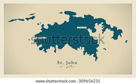modern map   saint john vi