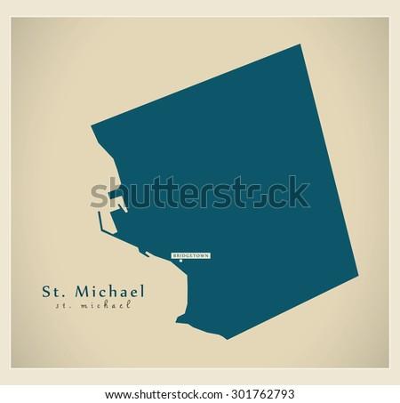 modern map   st michael bb