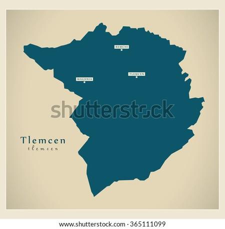 modern map   tlemcen dz