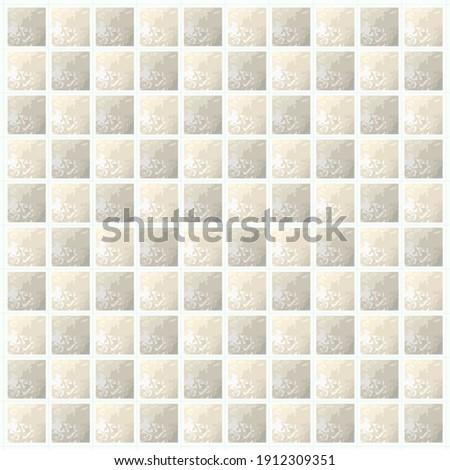 Modern marble tile wall pattern. Pink blurred gradient background. Vector illustration. Stok fotoğraf ©