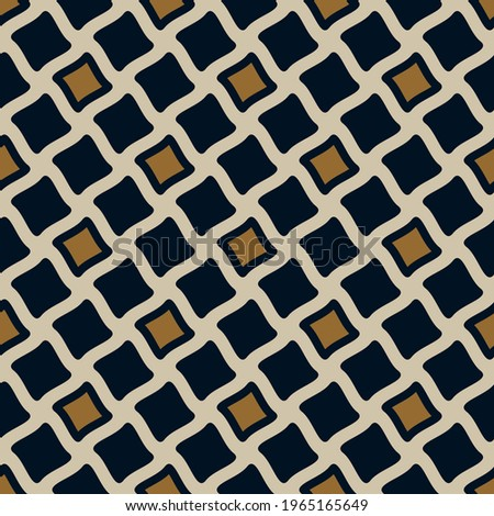Modern masculin geometric motif pattern, fabric design manly background. Simplicity concept, small patch wax printing block for apparel textile, ladies dress, man shirt, fashion garment, package, wrap Foto d'archivio ©