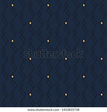 Modern masculin pattern elegant jagged line manly fabric design ultimate blue background. Minimal allover print block for apparel textile, ladies dress, man shirt, fashion garment, wrapping, swimwear. Foto d'archivio ©