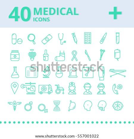 Modern medical icon set.vector illustrator