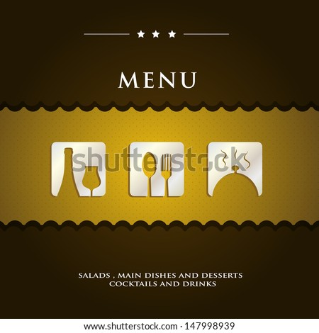 modern menu sample presentation